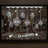 Christmas Baubles Pattern Wall Art Stickers For Living Room - WHITE