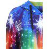Plus Size Rainbow Christmas Snowflake Hoodie - COLORFUL