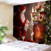 Santa Claus Front Fireplace Pattern Wall Hanging tapestry - COLORFUL