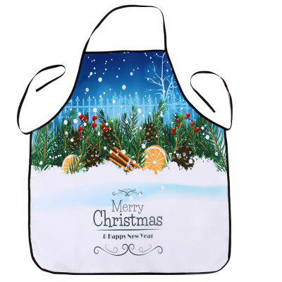 Christmas Snowscape Print Waterproof Cooking Apron