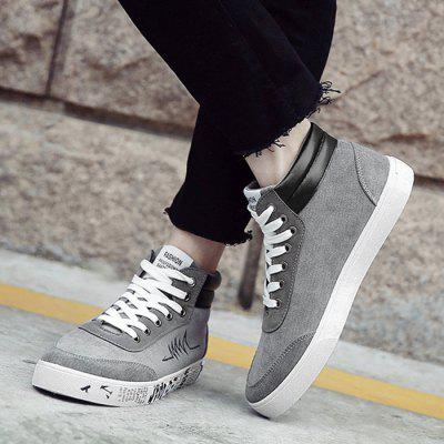 Graphic Sole Embroidered Faux Suede Skate ShoesCasual Shoes<br>Graphic Sole Embroidered Faux Suede Skate Shoes<br><br>Closure Type: Lace-Up<br>Embellishment: Embroidery<br>Gender: For Men<br>Occasion: Casual<br>Outsole Material: Rubber<br>Package Contents: 1 x Skate Shoes (pair)<br>Pattern Type: Letter<br>Season: Spring/Fall<br>Shoe Width: Medium(B/M)<br>Toe Shape: Round Toe<br>Toe Style: Closed Toe<br>Upper Material: Suede<br>Weight: 1.1400kg