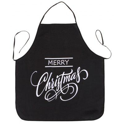 Merry Christmas Letters Print Waterproof Cooking Apron