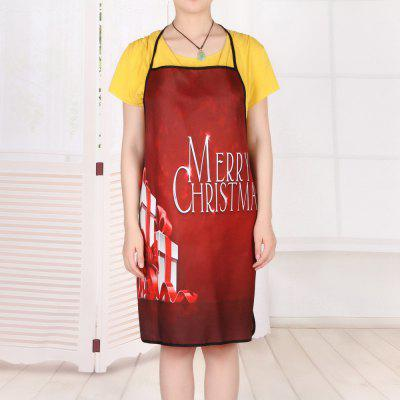 Christmas Gifts Print Waterproof Cooking ApronCookware<br>Christmas Gifts Print Waterproof Cooking Apron<br><br>Material: Polyester<br>Package Contents: 1 x Apron<br>Type: Apron<br>Weight: 0.0800kg
