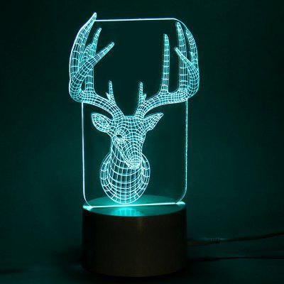 Elk Shape 3D Color Change LED Remote Control LightDecorative Lights<br>Elk Shape 3D Color Change LED Remote Control Light<br><br>Materials: Acrylic,  ABS<br>Occasion: Christmas Day, Party Supplies, Bedroom, Christmas, Office &amp; Career, Home<br>Package Contents: 1 x Lamp Base 1 x Acrylic Plate 1 x USB Cable 1 x Remote Controller<br>Products Type: Novelty Lighting<br>Style: Novelty<br>Weight: 0.2640kg