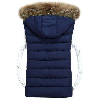 Detachable Hood Zip Up Padded VestWaistcoats<br>Detachable Hood Zip Up Padded Vest<br><br>Closure Type: Zipper<br>Collar: Hooded<br>Material: Faux Fur, Polyester<br>Package Contents: 1 x Vest<br>Shirt Length: Regular<br>Style: Casual<br>Thickness: Thick<br>Weight: 0.7500kg