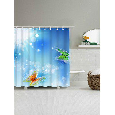 Two Butterflies Print Waterproof Bath CurtainShower Curtain<br>Two Butterflies Print Waterproof Bath Curtain<br><br>Materials: Polyester<br>Number of Hook Holes: W59 inch*L71 inch: 10; W71 inch*L71 inch: 12<br>Package Contents: 1 x Shower Curtain 1 x Hooks (Set)<br>Pattern: Insect<br>Products Type: Shower Curtains<br>Style: Chic/Modern