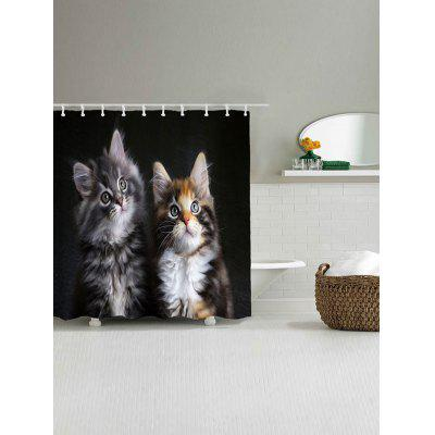 Two Cats Print Waterproof Shower CurtainShower Curtain<br>Two Cats Print Waterproof Shower Curtain<br><br>Materials: Polyester<br>Number of Hook Holes: W59 inch*L71 inch: 10; W71 inch*L71 inch: 12<br>Package Contents: 1 x Shower Curtain 1 x Hooks (Set)<br>Pattern: Animal<br>Products Type: Shower Curtains<br>Style: Cute