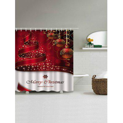 Christmas Balls Ribbon Print Waterproof Shower CurtainShower Curtain<br>Christmas Balls Ribbon Print Waterproof Shower Curtain<br><br>Materials: Polyester<br>Number of Hook Holes: W59 inch*L71 inch: 10; W71 inch*L71 inch: 12; W71 inch*L79 inch: 12<br>Package Contents: 1 x Shower Curtain 1 x Hooks (Set)<br>Pattern: Ball,Letter<br>Products Type: Shower Curtains<br>Style: Festival