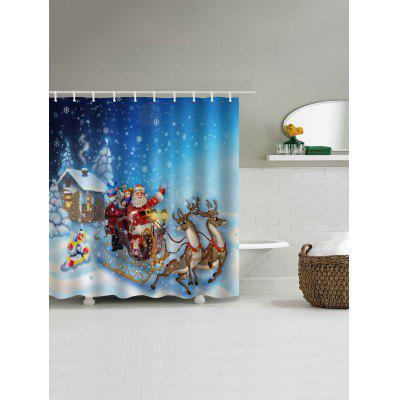 Christmas Snowy Santa Sleigh Print Waterproof Shower CurtainShower Curtain<br>Christmas Snowy Santa Sleigh Print Waterproof Shower Curtain<br><br>Materials: Polyester<br>Number of Hook Holes: W59 inch*L71 inch: 10; W71 inch*L71 inch: 12; W71 inch*L79 inch: 12<br>Package Contents: 1 x Shower Curtain 1 x Hooks (Set)<br>Pattern: Animal,Santa Claus<br>Products Type: Shower Curtains<br>Style: Festival
