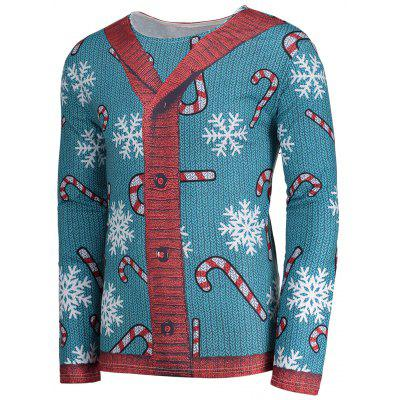 Snowflake Print Christmas Long Sleeve T-shirtMens Long Sleeves Tees<br>Snowflake Print Christmas Long Sleeve T-shirt<br><br>Collar: Crew Neck<br>Material: Polyester, Spandex<br>Package Contents: 1 x T-shirt<br>Pattern Type: Color Block, Print<br>Season: Fall, Spring, Summer<br>Sleeve Length: Full<br>Style: Fashion<br>Weight: 0.3200kg