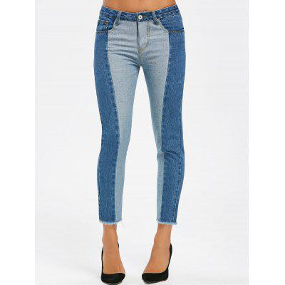 Two Tone Raw Edge Crop JeansJeans<br>Two Tone Raw Edge Crop Jeans<br><br>Fit Type: Skinny<br>Length: Ninth<br>Material: Polyester<br>Package Contents: 1 x Jeans<br>Wash: Bleach<br>Weight: 0.5000kg