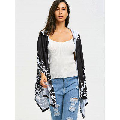 Asymmetric Open Front Hooded CapeTops<br>Asymmetric Open Front Hooded Cape<br><br>Material: Polyester<br>Package Contents: 1 x Cape<br>Pattern Type: Others<br>Weight: 0.4500kg