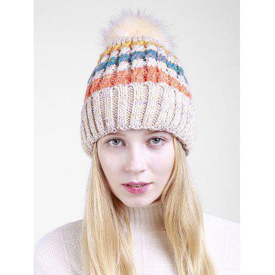 Outdoor Crochet Pom Knitted Slouchy Hat
