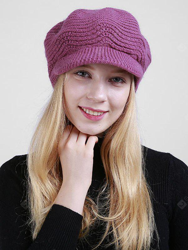 Knitted Wave Shape Newsboy Hat