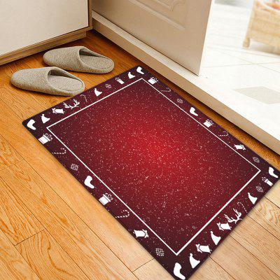 Christmas Theme Pattern Water Absorption Area Rug