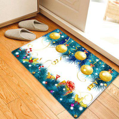Christmas Baubles Tree Pattern Water Absorption Area Rug