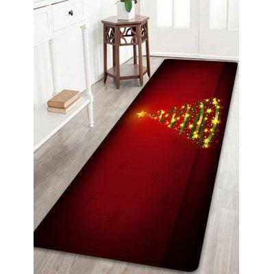 Christmas Star Tree Pattern Water Absorption Area Rug