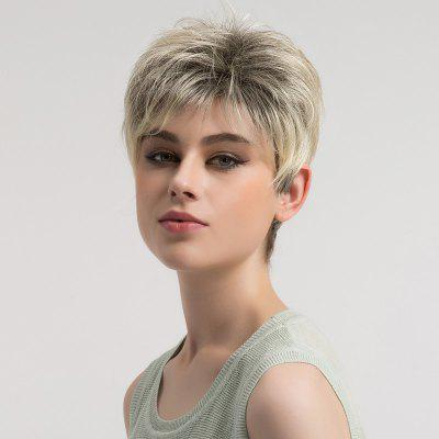 Buy COLORMIX Short Shaggy Layered Colormix Straight Synthetic Wig for $20.17 in GearBest store