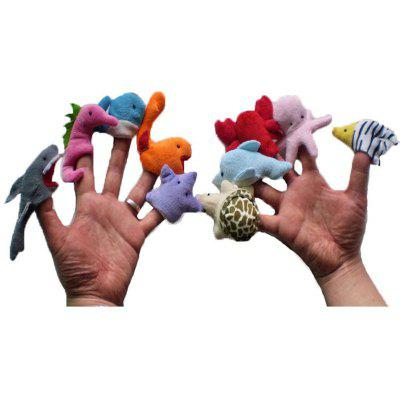 10 PC / Set Interessante Cartoon Tier Fingerpuppe