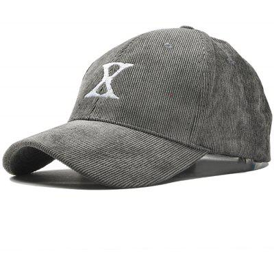 Outdoor Letter Embroidery Corduroy Baseball Cap