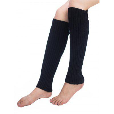 Vertical Striped Pattern Knitted Leg Warmers