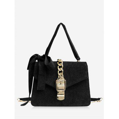 Buy BLACK Bow Chain Buckle Strap Crossbody Bag for $20.86 in GearBest store