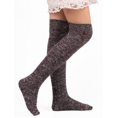 Button Knitted Stockings