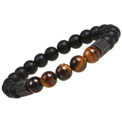 Buy BLACK Agate Beads Charm Bracelet for $5.07 in GearBest store