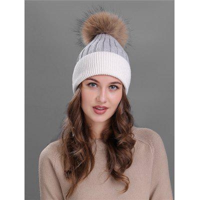 Vintage Fuzzy Ball Embellished Slouchy Beanie ...