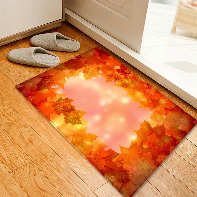 Maple Leaves Pattern Water Absorption Area Rug