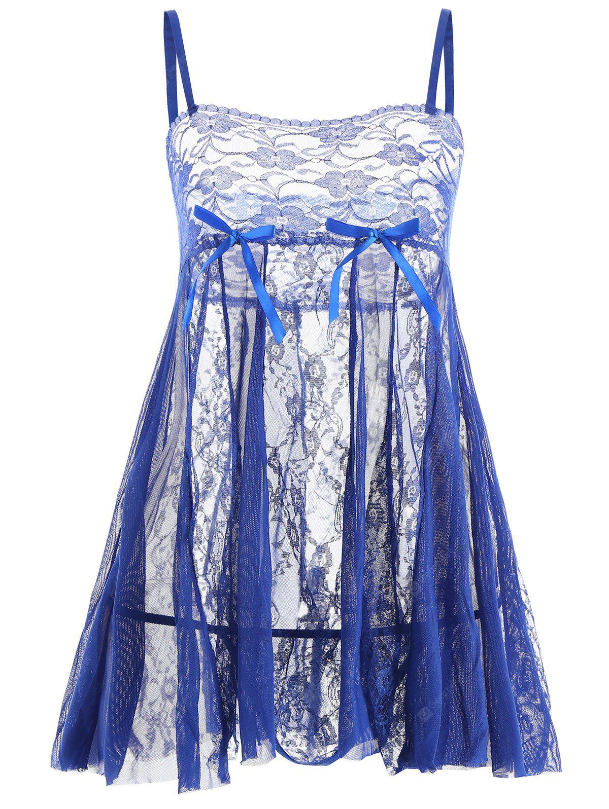 Lace Slip See Through Babydoll