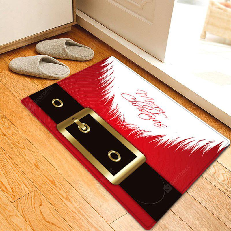 Christmas Santa Costume Pattern Water Absorption Area Rug