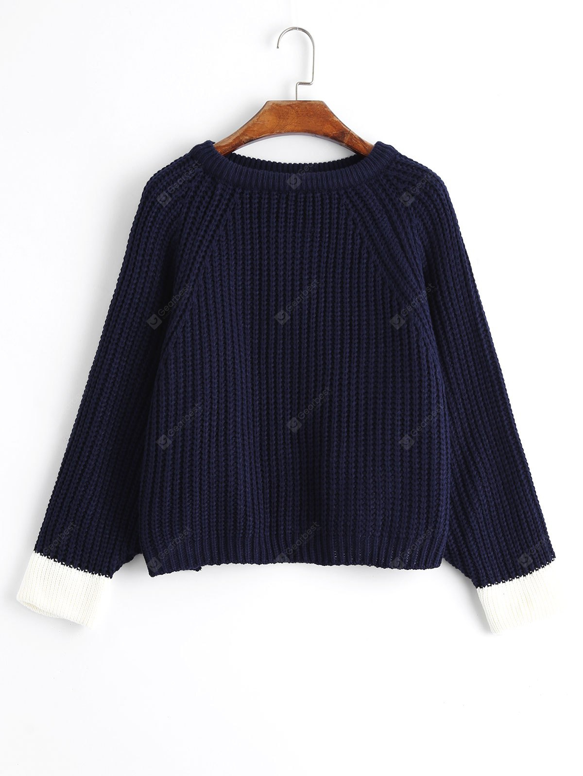 Oversized Two Tone Pullover Sweater