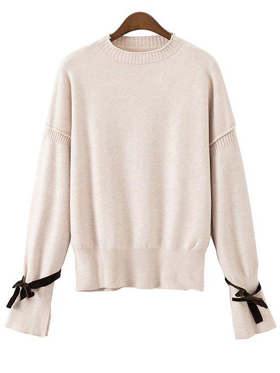 Bowknot Open Sleeve Loose Sweater