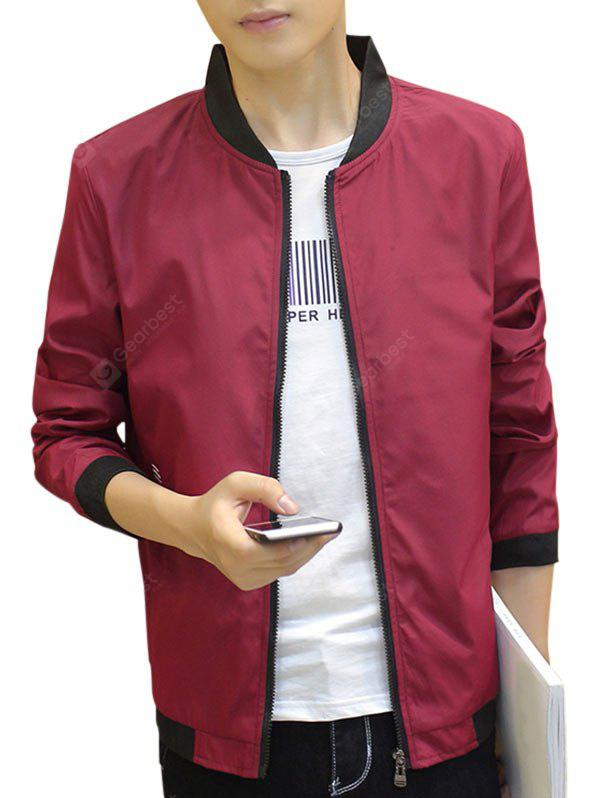 Contrast Trip Zip Up Rivestimento Casual Bomber