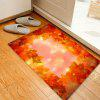 Maple Leaves Pattern Water Absorption Area Rug - LIGHT RED