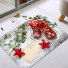 Christmas Snowfield Shoes Pattern Water Absorption Area Rug - RED