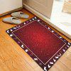Christmas Theme Pattern Water Absorption Area Rug - RED