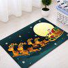 Christmas Night Deer Sleigh Pattern Water Absorption Area Rug - COLORMIX