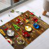 Christmas Baubles Wood Pattern Water Absorption Area Rug - COLORMIX
