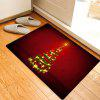 Christmas Star Tree Pattern Water Absorption Area Rug - RED