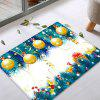 Christmas Baubles Tree Pattern Water Absorption Area Rug - COLORMIX