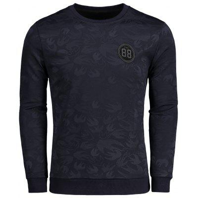 Buy BLACK 4XL Mens Printed Badge Patched Sweatshirt for $30.99 in GearBest store