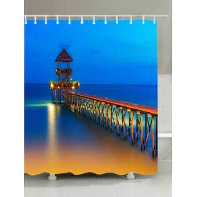 Ocean Bridge Print Waterproof Shower Curtain