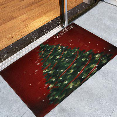 Christmas Tree Pattern Water Absorption Area Rug