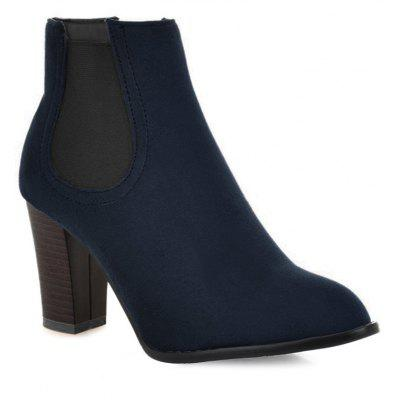 Buy BLUE 38 Elasticized Side Panels Pointed Toe Boots for $40.46 in GearBest store