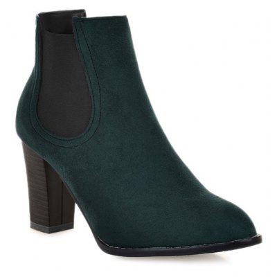 Buy GREEN 39 Elasticized Side Panels Pointed Toe Boots for $40.46 in GearBest store