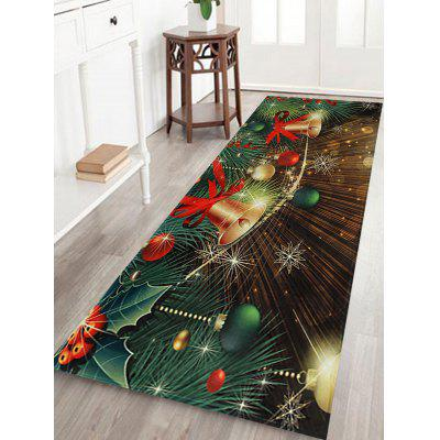 Christmas Bells Baubles Pattern Water Absorption Area Rug