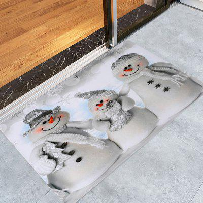Christmas Snowmen Family Pattern Water Absorption Area Rug