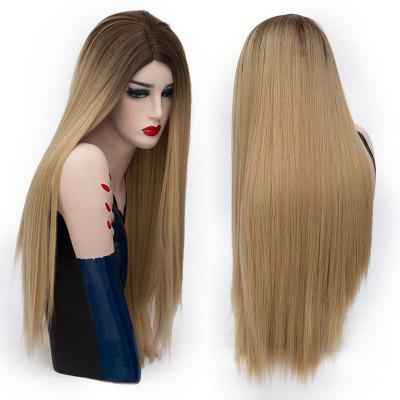 Center Parting Colormix Long Straight Party Synthetic Wig